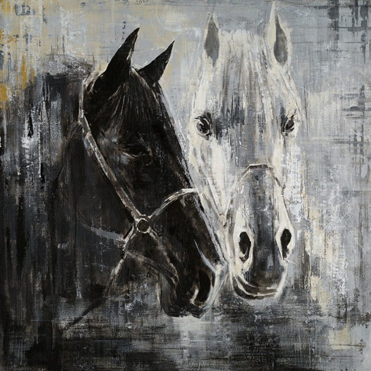Verrassend Schilderij van Paard in zwart wit - Te koop | Kunst voor in huis PV-24