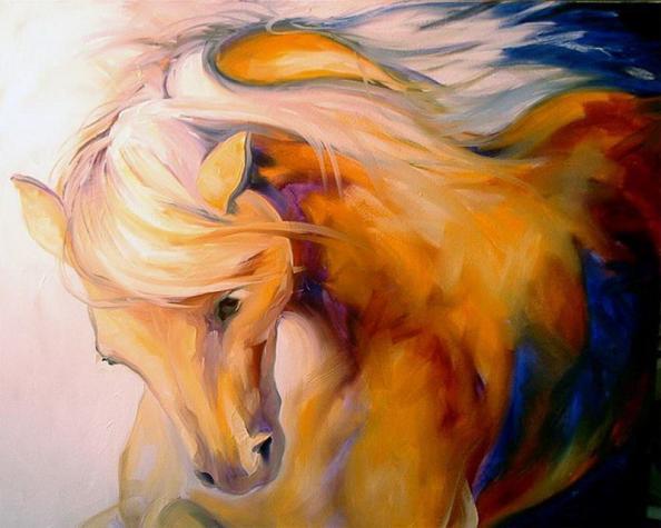 olieverf schilderij paard portret kunst voor in huis On olieverf schilderij