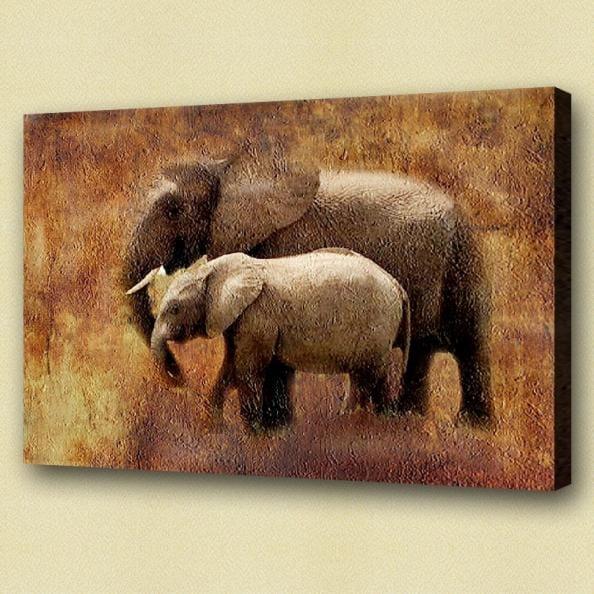 Olieverf schilderij olifant ii kunst voor in huis for Schilderij olifant