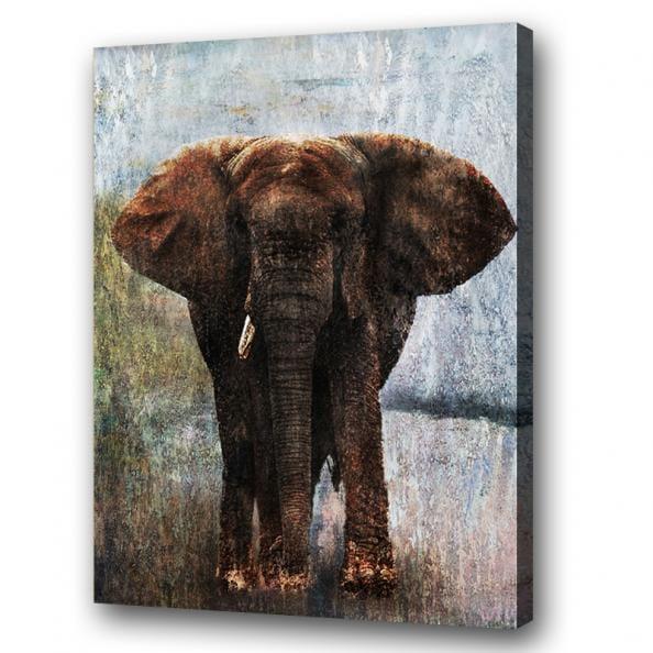 Olifant v kunst voor in huis for Schilderij olifant
