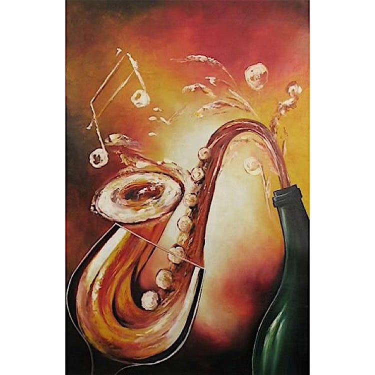 schilderij canvas wanddecoratie sax kunst voor in huis