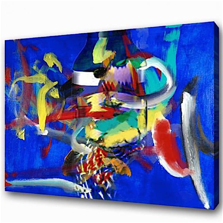 Schilderij de wereld van kleur kunst voor in huis - Kleur schilderij slaapkamer volwassen foto ...