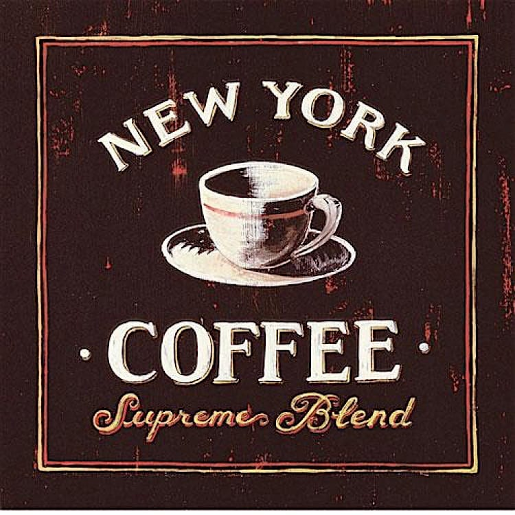Schilderij New York Coffee foto 1