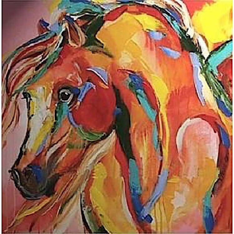 Beste Schilderij kleurrijk paard - Kopen | Kunst voor in huis TV-19