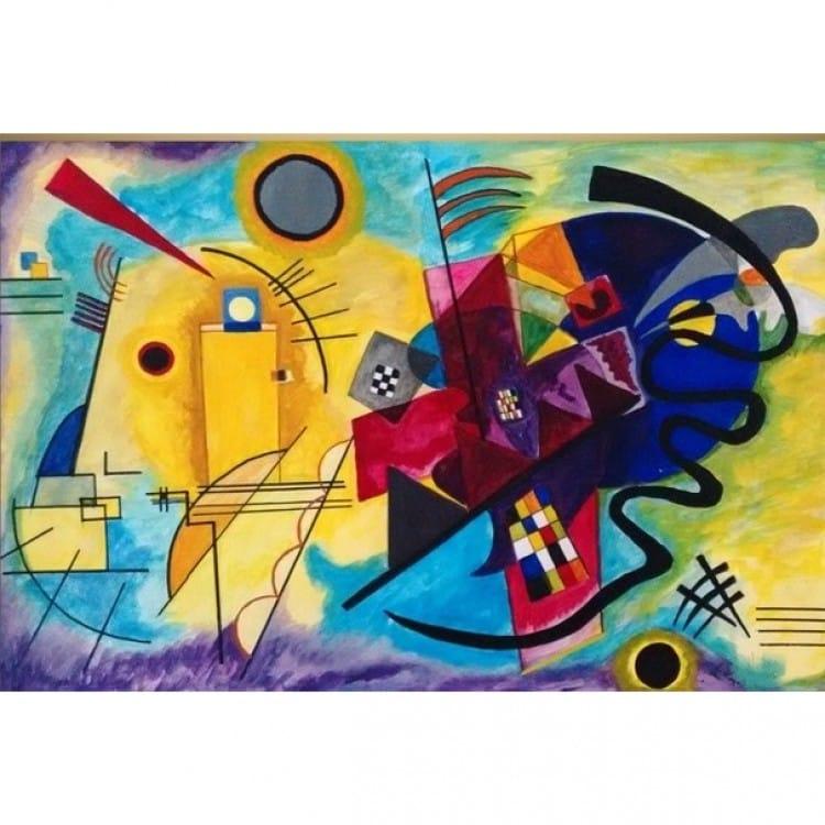 Wonderbaar Abstract olieverf schilderij abstracte vormen   Kunst voor in huis WD-92