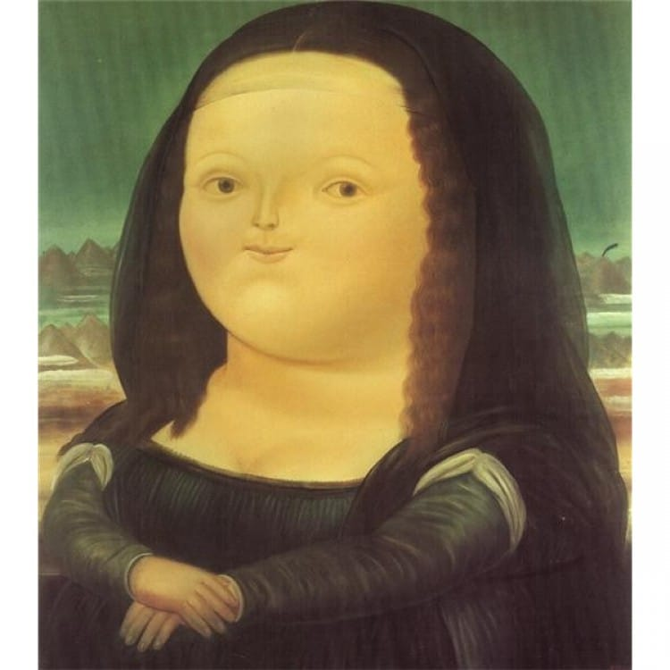 Pop Art Fat mona lisa - Kopen foto 1