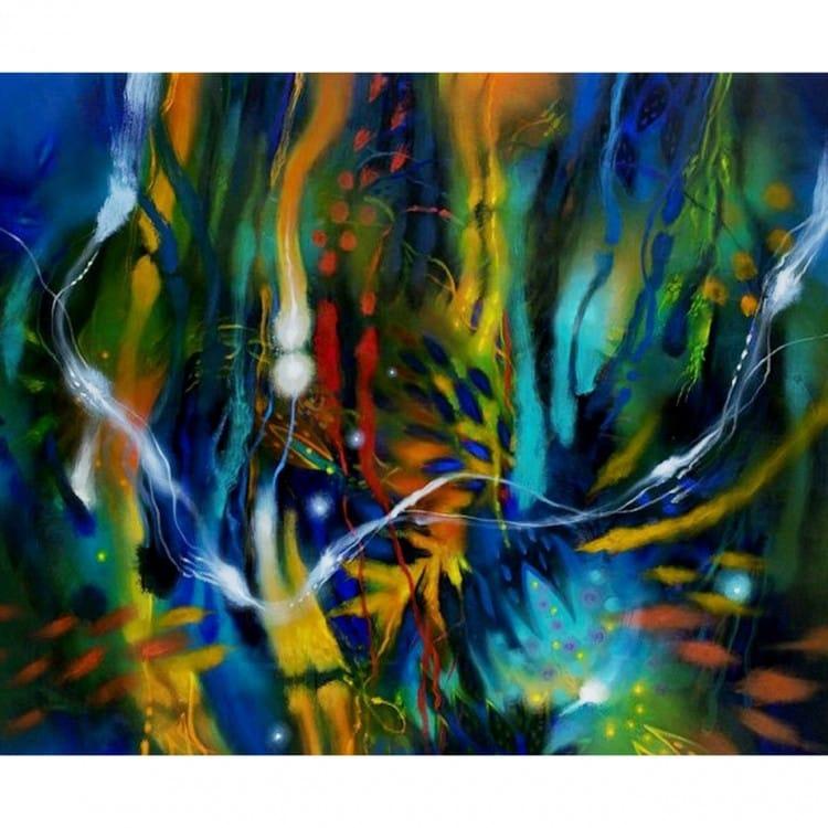 Moderne abstracte schilderijen kopen bij kunst voor in huis for Moderne schilderijen