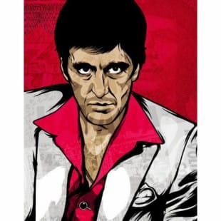 Schilderij Scarface Pop-art foto 1