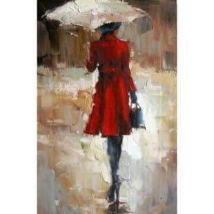 schilderij mooie vrouw