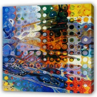 Schilderij abstract in rondjes foto 1