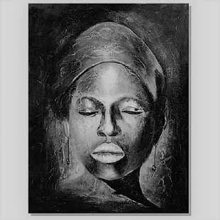 Onwijs Schilderij Het gezicht in zwart wit - Kopen | Kunst voor in huis GI-17