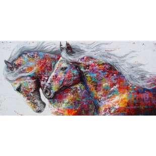 Ongebruikt Pop Art schilderij Gekleurde paarden | Kunst voor in huis SC-68