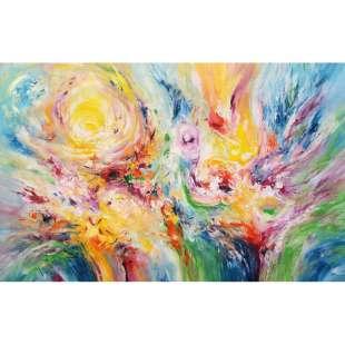 Geliefde Abstracte en Moderne olieverf schilderijen | Kunst voor in huis &BE07
