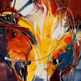 Abstract modern olieverf schilderij Gorda foto 1