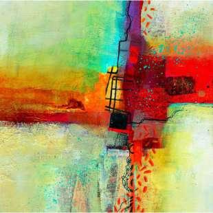 Verrassend Schilderij abstracte vormen - Handgeschilderd   Kunst voor in huis HL-86
